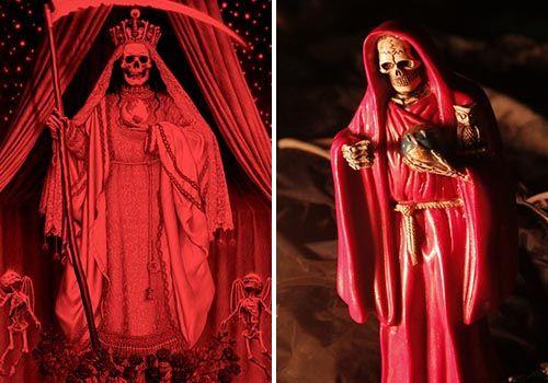oracion a la santa muerte roja