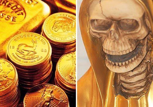 santa muerte dorada