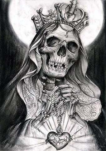 dibujo de la santa muerte