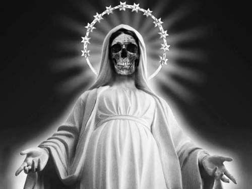 santa muerte blanca imagen